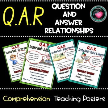 Q.A.R question answer relationship charts