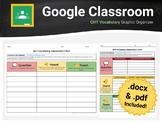 QHT Chart Vocabulary Graphic Organizer for Google Classroom & Docs