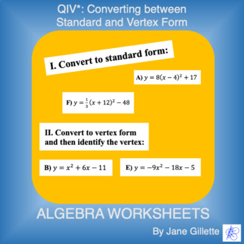 QIV*: Converting between Standard and Vertex Form