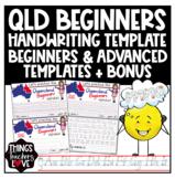 Qld Beginners Handwriting Templates, Mini Bundle, Beginner