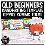 Queensland Beginners Handwriting Template, Hippie Kombi Car Theme, Qld
