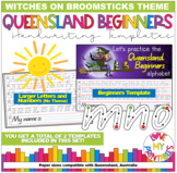 Queensland Beginners Handwriting Template, Room On The Broom Theme, Qld
