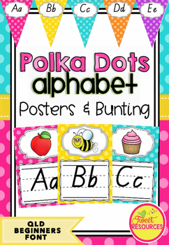 QLD Beginners Font Alphabet Posters Collection