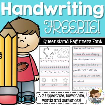 Queensland Beginners Handwriting Worksheets Teachers Pay Teachers
