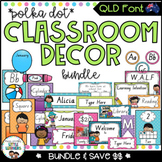 QLD Classroom Decor Bundle {Polka Dot}