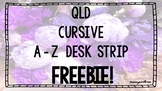 QLD Cursive A-Z Desk Strip FREEBIE!
