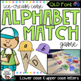 QLD Font Alphabet Match Game (Ice Cream Cones)