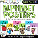 QLD Font Alphabet Posters {Rainbow Theme}