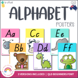 QLD Font Alphabet Posters | Tropical Theme