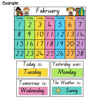 QLD Font Classroom Calendar and Weather Display {Rainbow Classroom Decor}