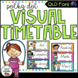 QLD Font Visual Daily Timetable {Polka Dot}