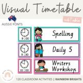 QLD Font Visual Timetable {Rainbow Theme}