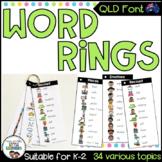 QLD Font Word Rings - Writing Tools