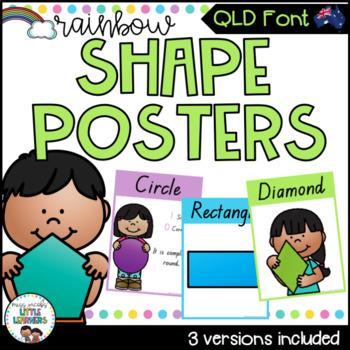 QLD Shape Posters {Rainbow Theme}