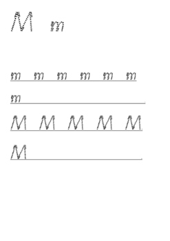 QLD font handwriting sheets