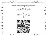 QR Activity - Algebra 1 EOC Review