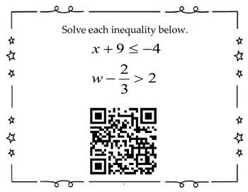 QR Activity - Algebra 1 EOC Review