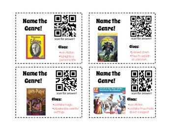 QR Activity: Genre task card game (3rd, 4th, 5th grades)