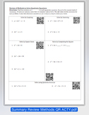 QR Activity: Solving Quadratics by All Methods