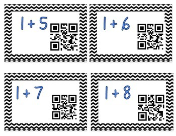 QR Addition & Subtraction Flashcards