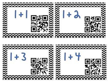 QR Addition & Subtraction Flashcards