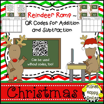 Christmas Activity ~ QR Addition & Subtraction Word Proble