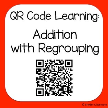 QR Addition with Regrouping Worksheets
