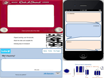 QR Barcode video with Flipped learning homework mat
