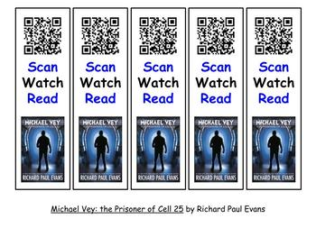 QR Bookmarks with Trailer Preview - Set #1