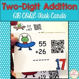 Double Digit Addition Task Cards: QR CODE Task Cards