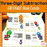 Three-digit Subtraction Task Cards:QR CODE Task Cards