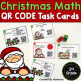Christmas Activities 2nd Grade: Christmas QR CODE Math Task Cards