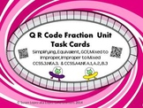 QR CODE FRACTION TASK CARDS: EQUIVALENT, GCF, SIMPLIFYING, IMPROPER - MIXED