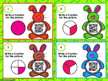 Fractions Task Cards With QR CODES