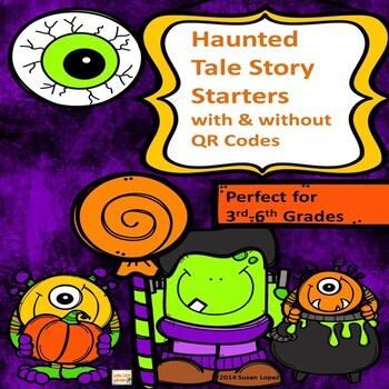 QR CODE HALLOWEEN HAUNTED TALE STORY STARTERS
