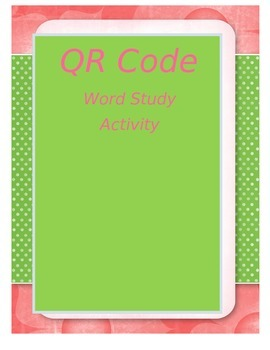 QR CODE Word Study Activity