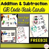 Addition and Subtraction Task Cards : QR CODE Activity {FREEBIE}