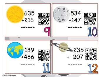 Addition and Subtraction Task Cards : QR Code Math Task Cards {FREEBIE}