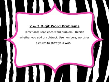 QR CODES - 2 & 3 Digit Addition and Subtraction Word Problems