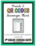 QR CODES- 5th Grade Eureka Math (Division Word Problems) Module 2, Lesson 29