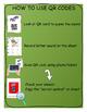 QR scan code cards & worksheets - FRENCH - La rentrée / Ba