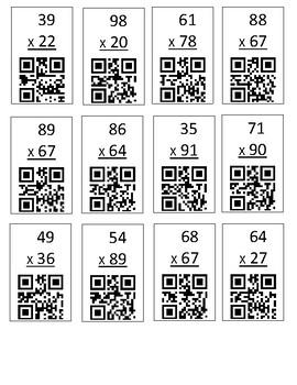 QR Check Multiplication 2 digit by 2 digit