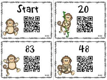 QR Code 1 More, 1Less, and 10 More, 10 Less Scavenger Hunt