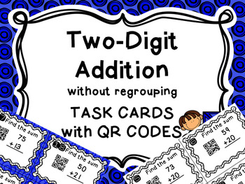 QR Code 2-Digit Addition Without Regrouping