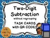 QR Code 2-Digit Subtraction without Regrouping Task Cards