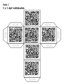 QR Code 2 x 2 digit Multiplication (Partial Products or Area Model)