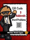 QR Code 3 Addends Word Problems