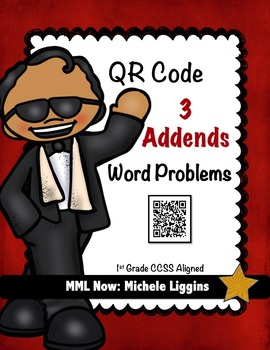 QR Code 3 Addends Word Problems