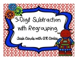 QR Code 3 Digit Subtraction with Regrouping