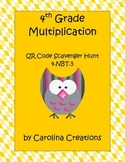 QR Code 4th Grade Common Math Multiplication Scavenger Hunt 4.NBT.5